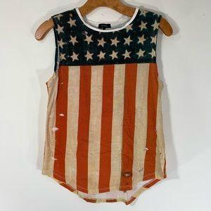 NOLLIE tank top distress American flag